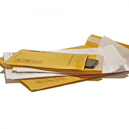 Envelopes with bubble air...