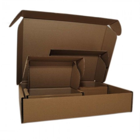 Quick-closing shipping boxes