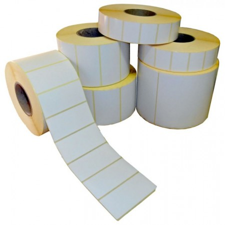 Self-adhesive labels in rolls