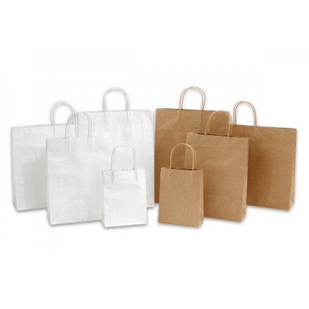 Paper bags with twisted...