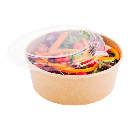 Bowls for food with a cap