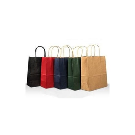 Paper colored bags with...