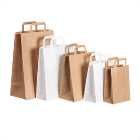 Paper bags with flat paper...