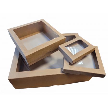 Dviejų dalių dėžės su langeliu