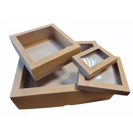 Two-part boxes with short lid